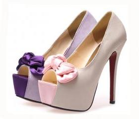 FREE SHIPPING waterproof nightclub high heel wedding shoes